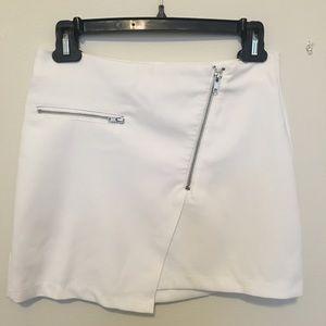 White H&M Divided Mini Skirt